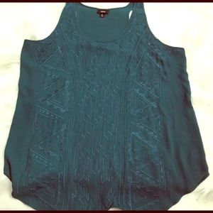 Ladies embroidered tank